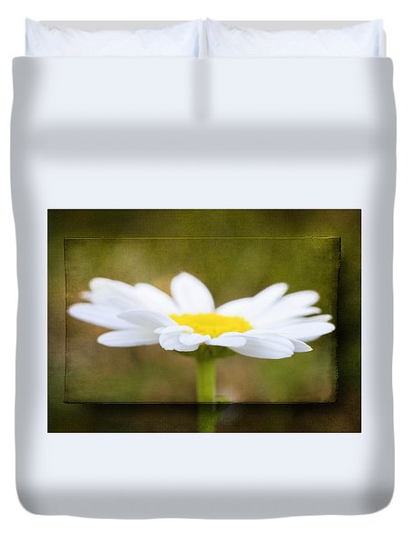 Duvet Cover featuring the photograph White Daisy by Eduard Moldoveanu