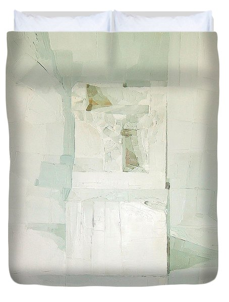 White Duvet Cover by Daniel Cacouault