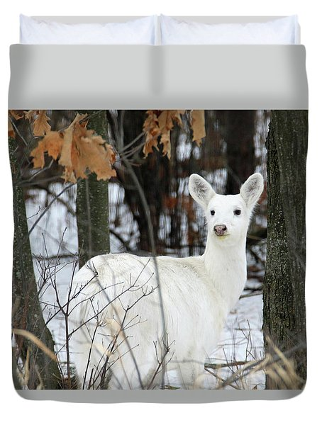 White Deer Vistor Duvet Cover