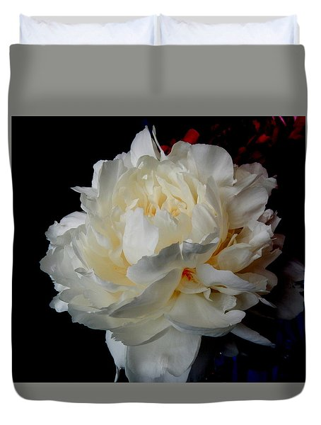 Duvet Cover featuring the photograph White Delight by Betty-Anne McDonald