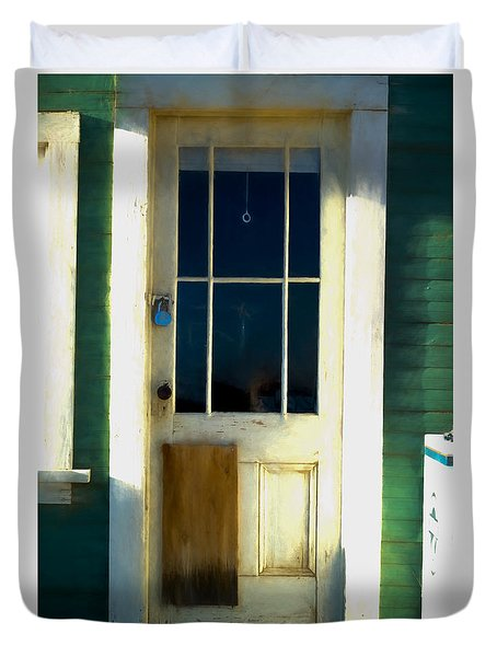 White Door -da- Duvet Cover