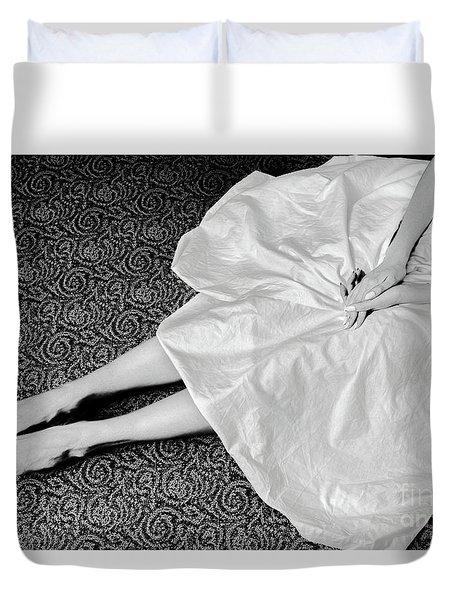 White Dress #6867 Duvet Cover by Andrey Godyaykin