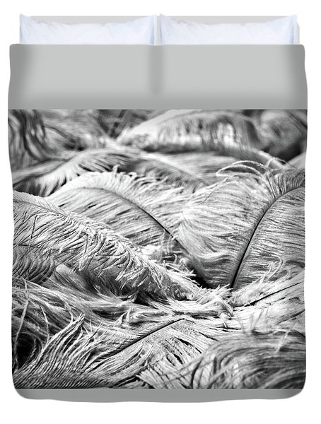 Duvet Cover featuring the photograph White Feathers #4 by Stuart Litoff