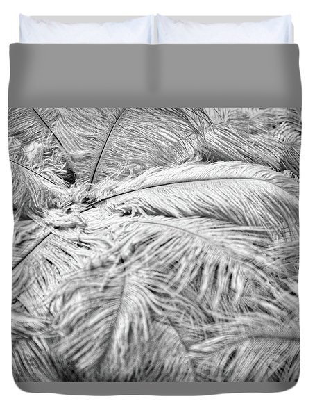 Duvet Cover featuring the photograph White Feathers by Stuart Litoff