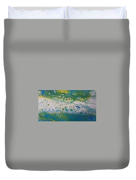 White Flow Duvet Cover