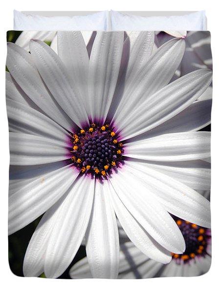 White Flower 1 Duvet Cover by Isam Awad