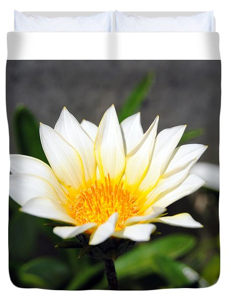 White Flower 3 Duvet Cover
