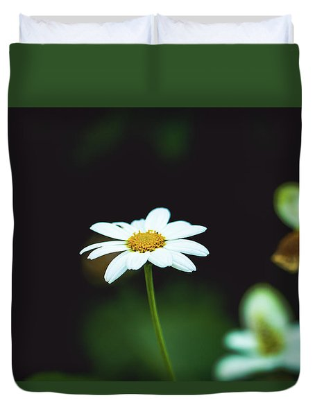 White Flower Duvet Cover