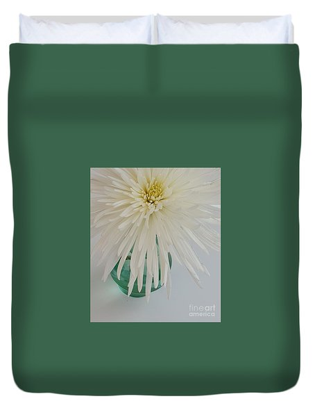 White Flower In A Vase By Jasna Gopic Duvet Cover