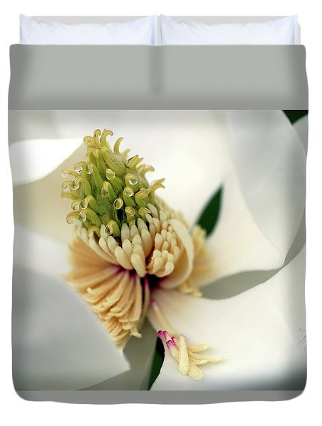 Duvet Cover featuring the photograph Magnolia Blossom by Meta Gatschenberger