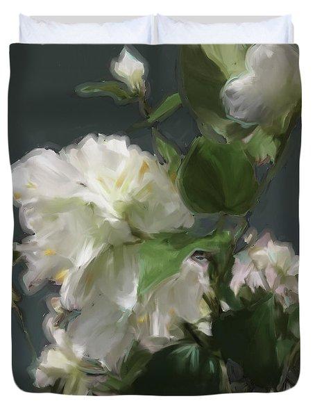 White Flowers 103 Duvet Cover