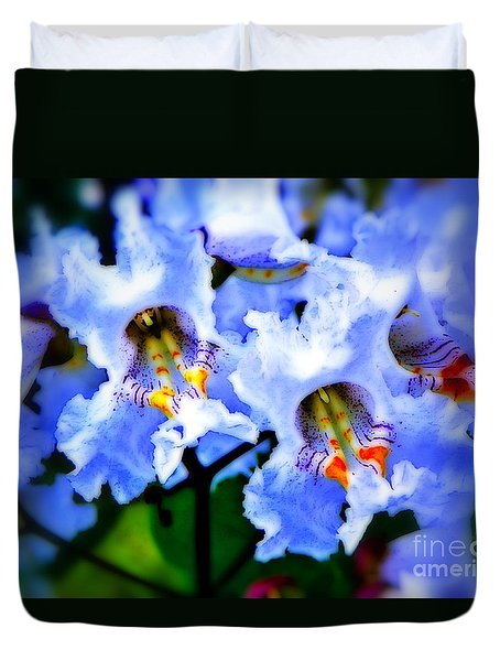 White Flowers Duvet Cover by Craig Walters