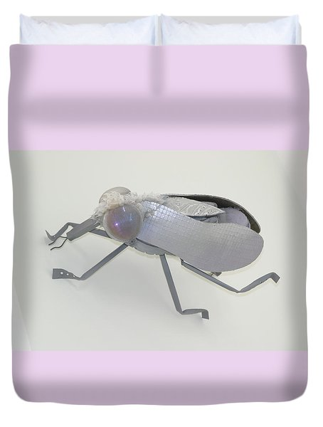 White Fly Duvet Cover by Michael Jude Russo