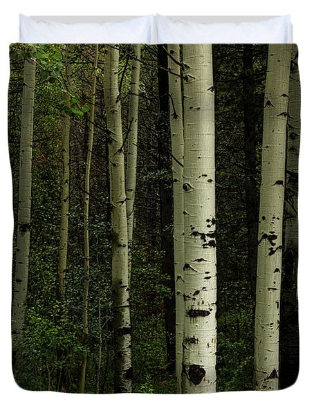 Duvet Cover featuring the photograph White Forest by James BO Insogna