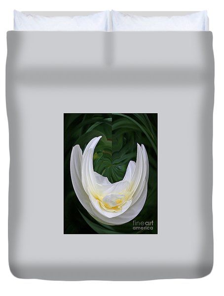 Duvet Cover featuring the photograph White Form by Nareeta Martin