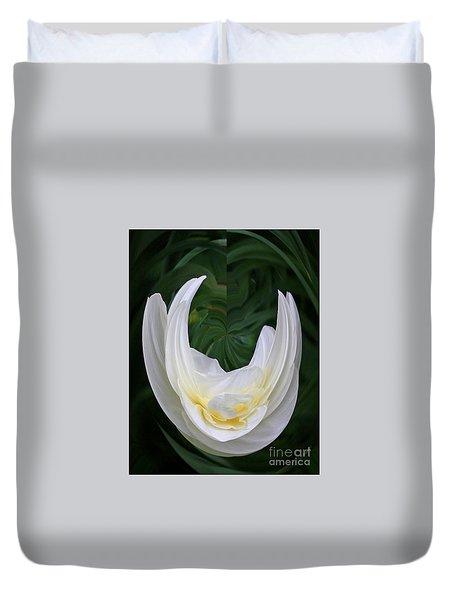 White Form Duvet Cover by Nareeta Martin