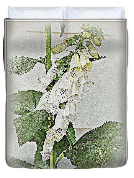White Foxglove Duvet Cover
