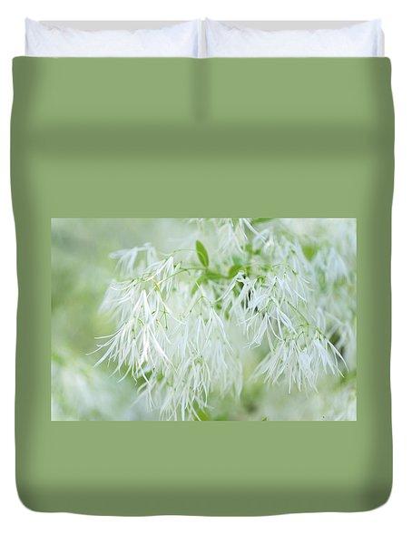White Fringetree Duvet Cover