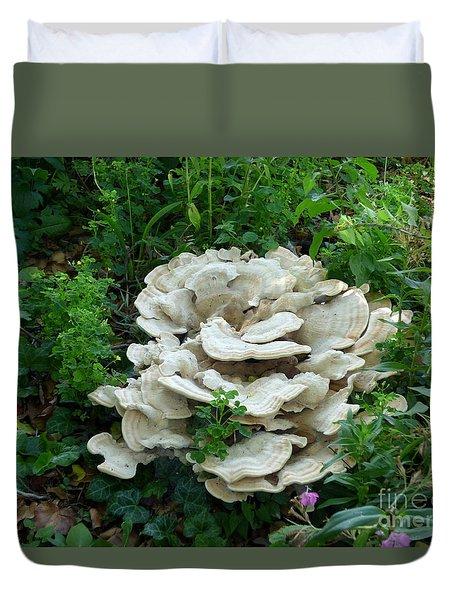 White Fungus Duvet Cover