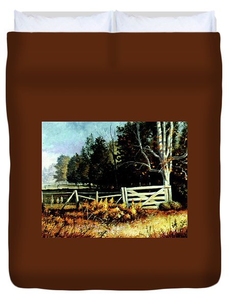 White Gate Duvet Cover