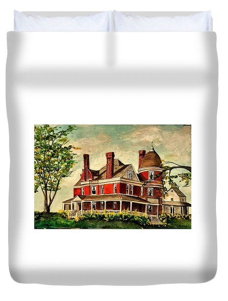 White Hall Duvet Cover
