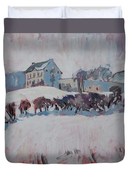White Hill Zonneberg Maastricht Duvet Cover by Nop Briex