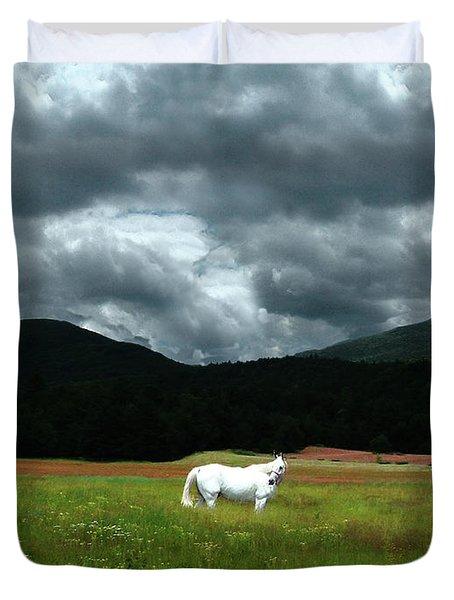 White Horse In A Glorious Dream Duvet Cover