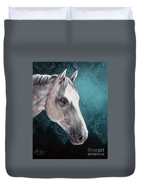 White Horse Duvet Cover
