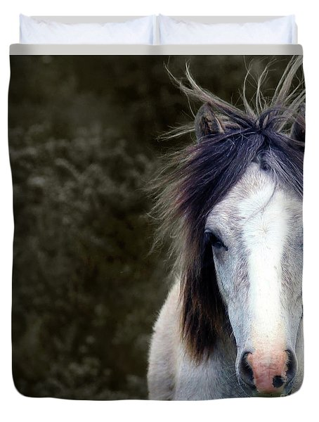 White Horse Duvet Cover