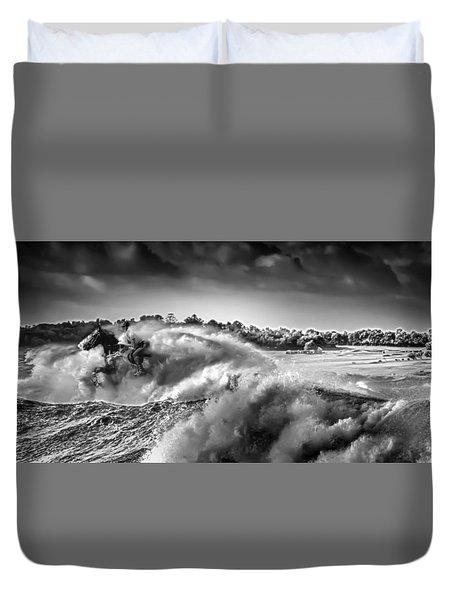 White Horses Duvet Cover