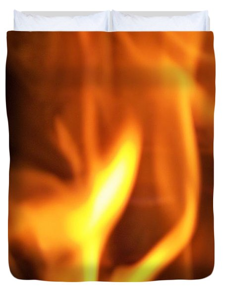 Duvet Cover featuring the photograph White Hot by Betty Northcutt