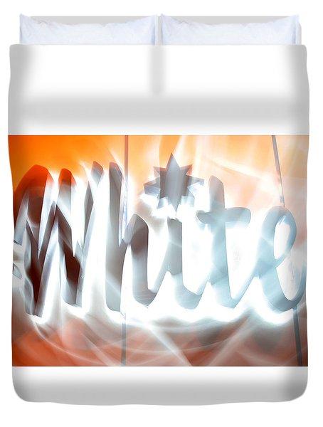 White Hot Duvet Cover