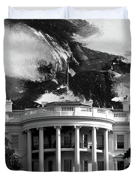 White House 002 Duvet Cover by Gull G