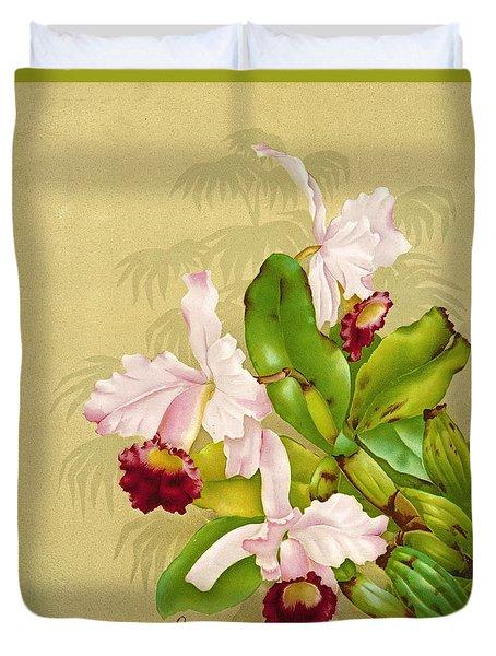 White House Orchid 1892 Duvet Cover