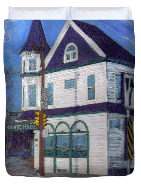 White House Tavern Duvet Cover by Anita Burgermeister