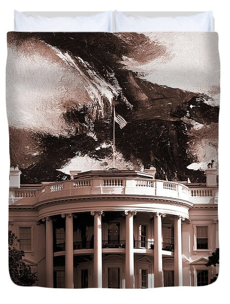 White House Washington Dc Duvet Cover by Gull G