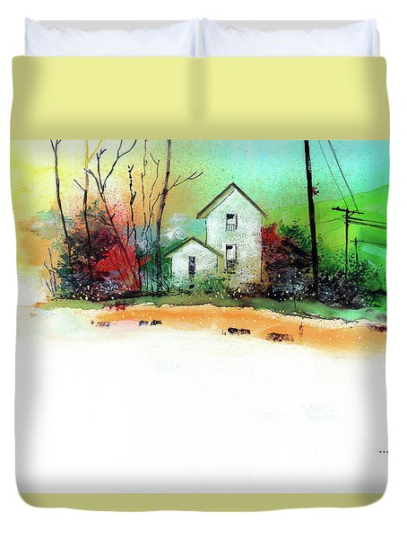 White Houses Duvet Cover