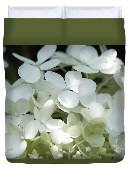 White Hydrangea II Duvet Cover by Mary Haber