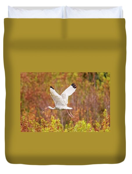 White Ibis In Hilton Head Island Duvet Cover