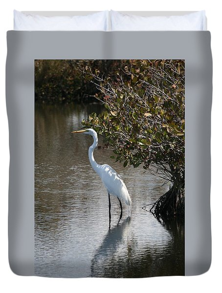 White Ibis Duvet Cover