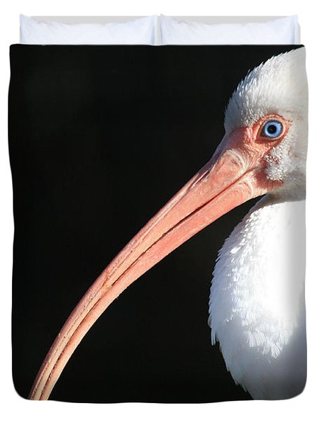 White Ibis Profile Duvet Cover