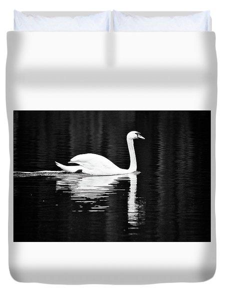 White In Black  Duvet Cover by Teemu Tretjakov