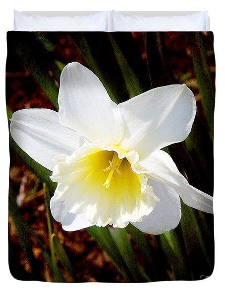 White In Nature Duvet Cover