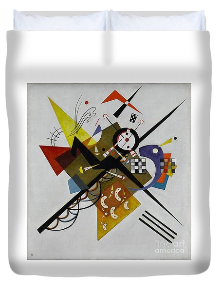White Duvet Cover by Kandinsky