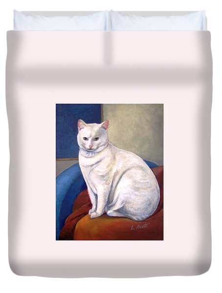 White Kitty Duvet Cover