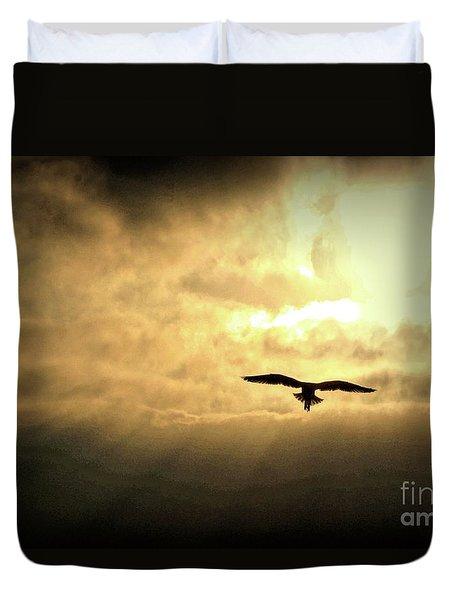 White Light Sunrise Duvet Cover