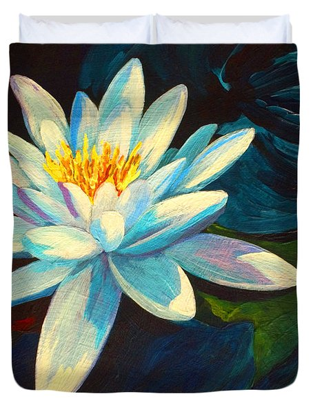 White Lily IIi Duvet Cover