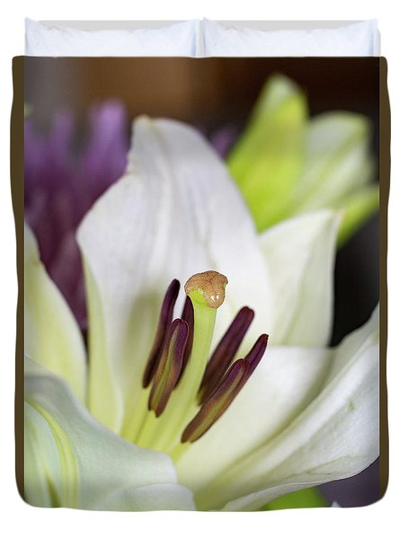 White Lily Duvet Cover