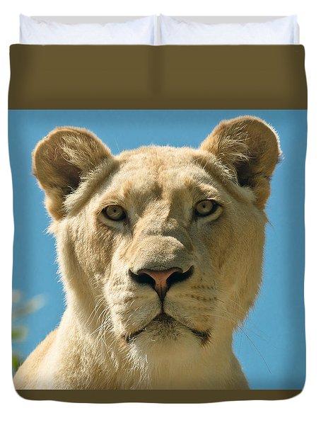 White Lion Duvet Cover