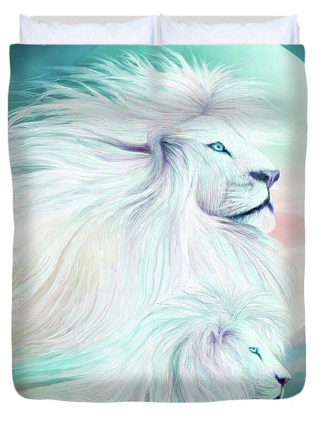 White Lion - Spirit King Duvet Cover